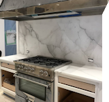 marble kitchen countertop and backsplash, Fordham Marble, Stamford CT