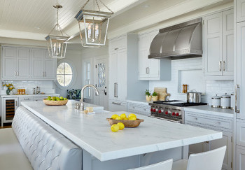 Quartzite countertops in kitchen of the week Quogue NY